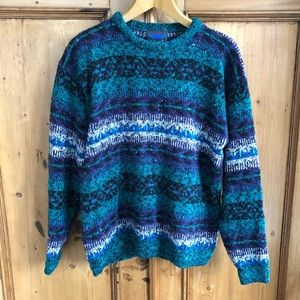 VINTAGE ETCHINGS Mock Neck 80's Sweater